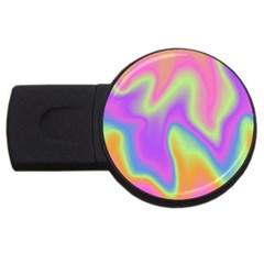 Holographic Design Usb Flash Drive Round (4 Gb) by tarastyle