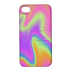 Holographic Design Apple Iphone 4/4s Hardshell Case With Stand