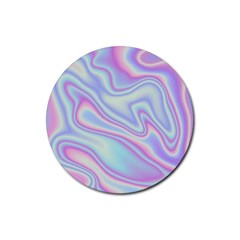 Holographic Design Rubber Round Coaster (4 Pack)