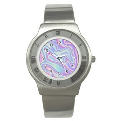 Holographic Design Stainless Steel Watch