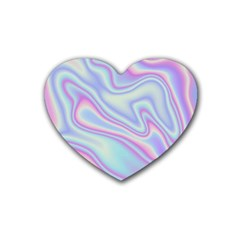Holographic Design Rubber Coaster (heart)