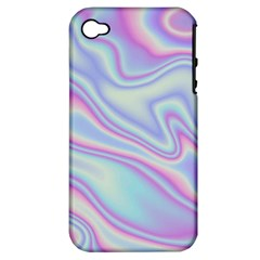 Holographic Design Apple Iphone 4/4s Hardshell Case (pc+silicone)