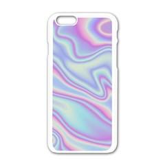 Holographic Design Apple Iphone 6/6s White Enamel Case