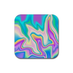 Holographic Design Rubber Square Coaster (4 Pack)
