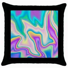 Holographic Design Throw Pillow Case (black)