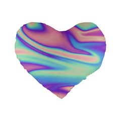Holographic Design Standard 16  Premium Heart Shape Cushions