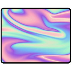 Holographic Design Double Sided Fleece Blanket (medium)
