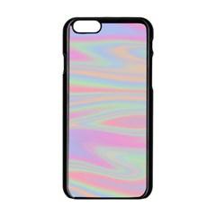 Holographic Design Apple Iphone 6/6s Black Enamel Case by tarastyle