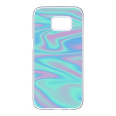 Holographic Design Samsung Galaxy S7 Edge White Seamless Case by tarastyle