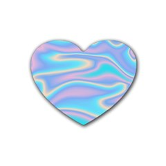 Holographic Design Heart Coaster (4 Pack)