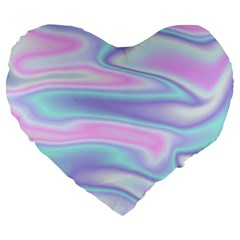 Holographic Design Large 19  Premium Flano Heart Shape Cushions by tarastyle