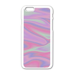 Holographic Design Apple Iphone 6/6s White Enamel Case by tarastyle