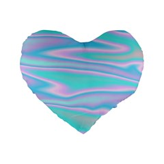 Holographic Design Standard 16  Premium Flano Heart Shape Cushions by tarastyle