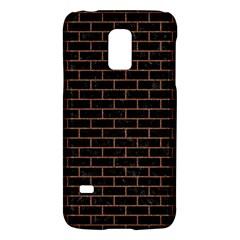Brick1 Black Marble & Brown Denim (r) Galaxy S5 Mini by trendistuff
