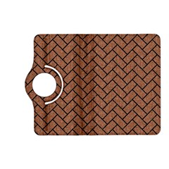 Brick2 Black Marble & Brown Denim Kindle Fire Hd (2013) Flip 360 Case by trendistuff
