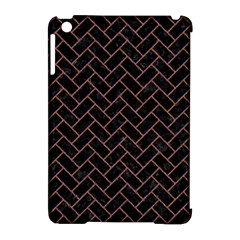 Brick2 Black Marble & Brown Denim (r) Apple Ipad Mini Hardshell Case (compatible With Smart Cover) by trendistuff