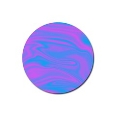 Holographic Design Rubber Round Coaster (4 Pack)  by tarastyle