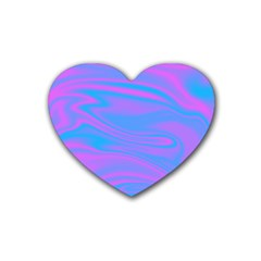 Holographic Design Heart Coaster (4 Pack)  by tarastyle