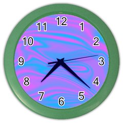 Holographic Design Color Wall Clocks by tarastyle