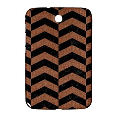 Chevron2 Black Marble & Brown Denim Samsung Galaxy Note 8 0 N5100 Hardshell Case  by trendistuff