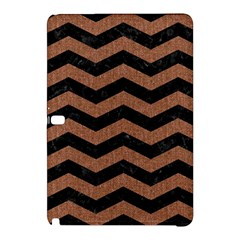 Chevron3 Black Marble & Brown Denim Samsung Galaxy Tab Pro 12 2 Hardshell Case