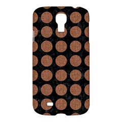 Circles1 Black Marble & Brown Denim (r) Samsung Galaxy S4 I9500/i9505 Hardshell Case by trendistuff