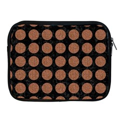 Circles1 Black Marble & Brown Denim (r) Apple Ipad 2/3/4 Zipper Cases by trendistuff