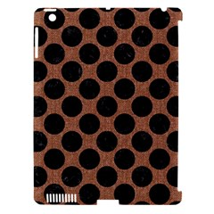 Circles2 Black Marble & Brown Denim Apple Ipad 3/4 Hardshell Case (compatible With Smart Cover) by trendistuff