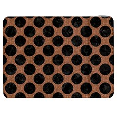 Circles2 Black Marble & Brown Denim Samsung Galaxy Tab 7  P1000 Flip Case by trendistuff