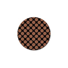 Circles2 Black Marble & Brown Denim (r) Golf Ball Marker (4 Pack) by trendistuff