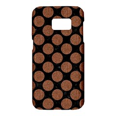 Circles2 Black Marble & Brown Denim (r) Samsung Galaxy S7 Hardshell Case  by trendistuff