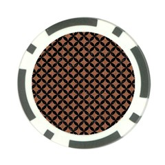 Circles3 Black Marble & Brown Denim Poker Chip Card Guard (10 Pack) by trendistuff
