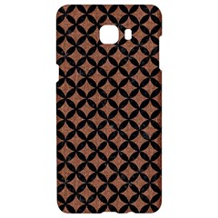 Circles3 Black Marble & Brown Denim Samsung C9 Pro Hardshell Case  by trendistuff