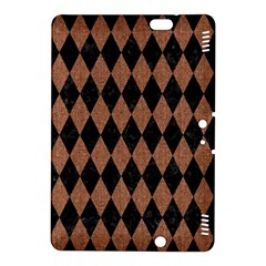 Diamond1 Black Marble & Brown Denim Kindle Fire Hdx 8 9  Hardshell Case by trendistuff