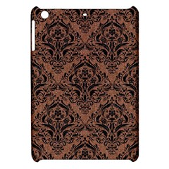 Damask1 Black Marble & Brown Denim Apple Ipad Mini Hardshell Case by trendistuff