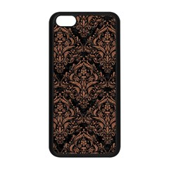 Damask1 Black Marble & Brown Denim (r) Apple Iphone 5c Seamless Case (black) by trendistuff