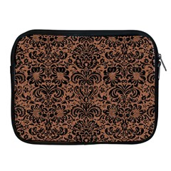 Damask2 Black Marble & Brown Denim Apple Ipad 2/3/4 Zipper Cases by trendistuff