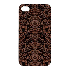Damask2 Black Marble & Brown Denim (r) Apple Iphone 4/4s Hardshell Case by trendistuff