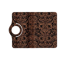 Damask2 Black Marble & Brown Denim (r) Kindle Fire Hd (2013) Flip 360 Case by trendistuff