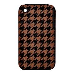 Houndstooth1 Black Marble & Brown Denim Iphone 3s/3gs