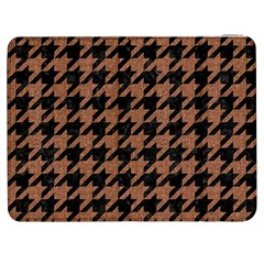 Houndstooth1 Black Marble & Brown Denim Samsung Galaxy Tab 7  P1000 Flip Case by trendistuff