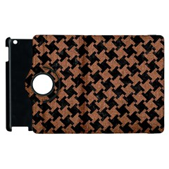 Houndstooth2 Black Marble & Brown Denim Apple Ipad 3/4 Flip 360 Case by trendistuff