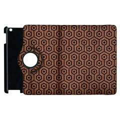 Hexagon1 Black Marble & Brown Denim Apple Ipad 2 Flip 360 Case by trendistuff