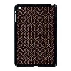 Hexagon1 Black Marble & Brown Denim (r) Apple Ipad Mini Case (black) by trendistuff