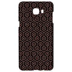 Hexagon1 Black Marble & Brown Denim (r) Samsung C9 Pro Hardshell Case  by trendistuff