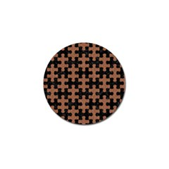 Puzzle1 Black Marble & Brown Denim Golf Ball Marker (10 Pack) by trendistuff