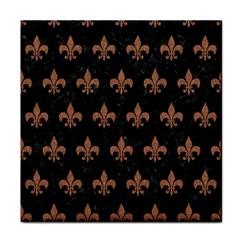 Royal1 Black Marble & Brown Denim Tile Coasters by trendistuff
