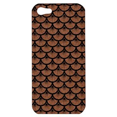 Scales3 Black Marble & Brown Denim Apple Iphone 5 Hardshell Case by trendistuff