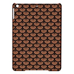 Scales3 Black Marble & Brown Denim Ipad Air Hardshell Cases by trendistuff