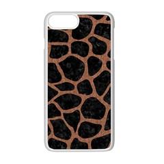 Skin1 Black Marble & Brown Denim Apple Iphone 8 Plus Seamless Case (white)